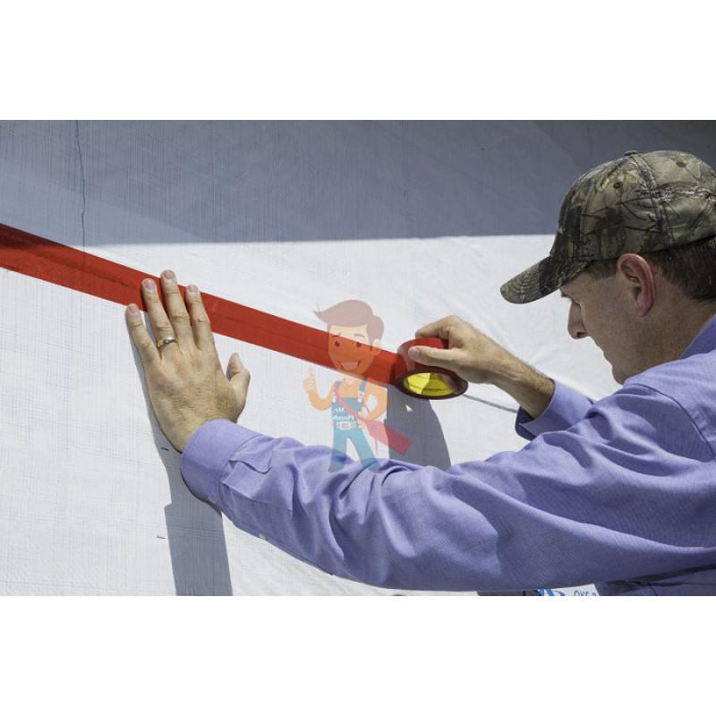 Лента Односторонняя для Гидроизоляции 8087CW, красная, 60 мм x 50 м - фото 3