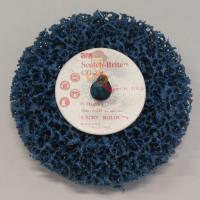 Круг Зачистной  T27, 180 мм х 7,0 мм х 22,23 мм - Шлифовальный круг Scotch-Brite™ Roloc™ + Clean and Strip CG-ZR, S XCS, голубой, 100 мм х 13 мм, 57018