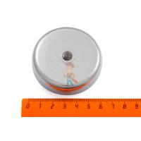 Магнитное крепление со сквозной внутренней резьбой Н25 (М5) - Магнитное крепление со сквозной внутренней резьбой Н60 (М8)