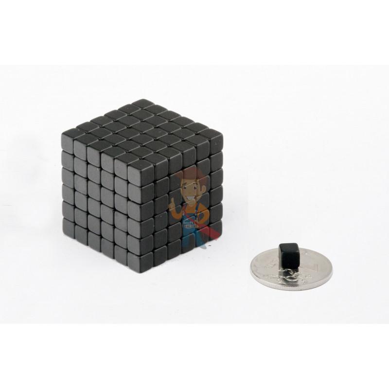 Forceberg TetraCube - куб из магнитных кубиков 5 мм, черный, 216 элементов - фото 2