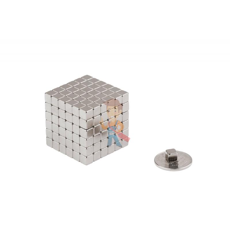 Forceberg TetraCube - куб из магнитных кубиков 4 мм, стальной, 216 элементов - фото 2