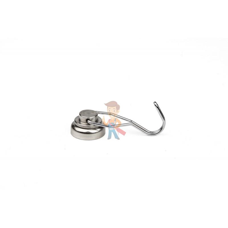 Магнитное крепление с поворотным крючком 25 мм