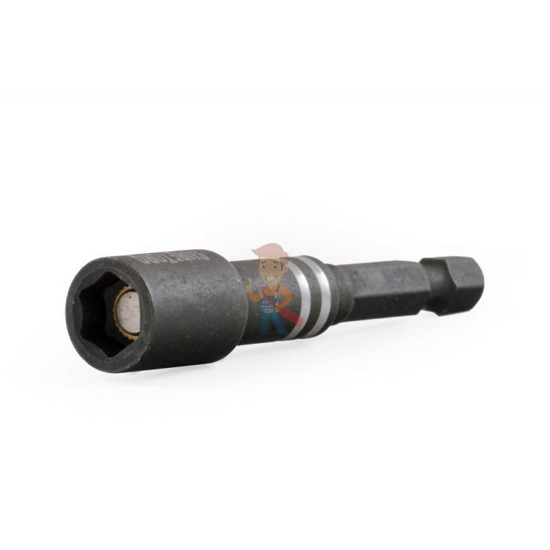 Магнитная насадка под шестигранную головку H8 для ударного шуруповерта, 65 мм - фото 1