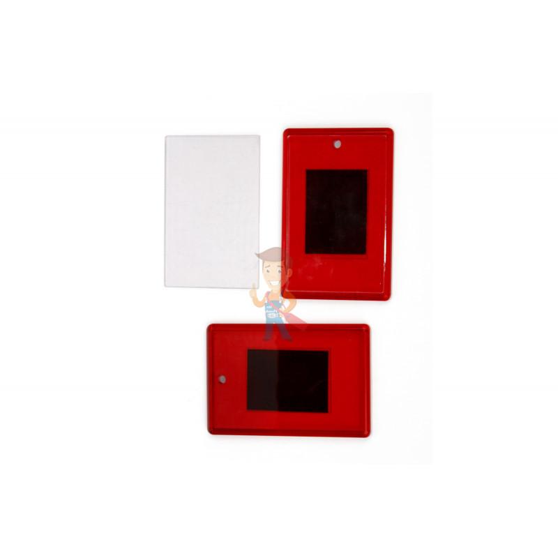 Акриловая заготовка для магнита Forceberg 52х77 мм, красная, 10 шт. - фото 1