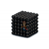 Forceberg Cube - куб из магнитных шариков 2,5 мм, оливковый, 512 элементов - Forceberg Cube - куб из магнитных шариков 6 мм, черный, 216 элементов