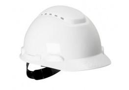 Каска защитная с вентиляцией, стандартное оголовье, белая