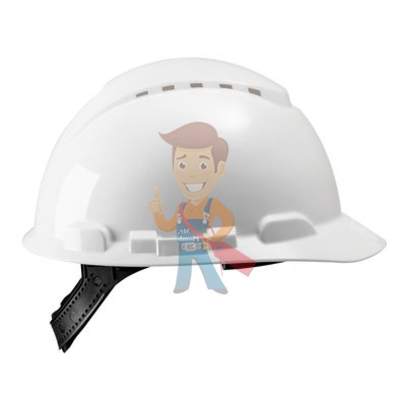 Каска защитная с вентиляцией, стандартное оголовье, белая - фото 4