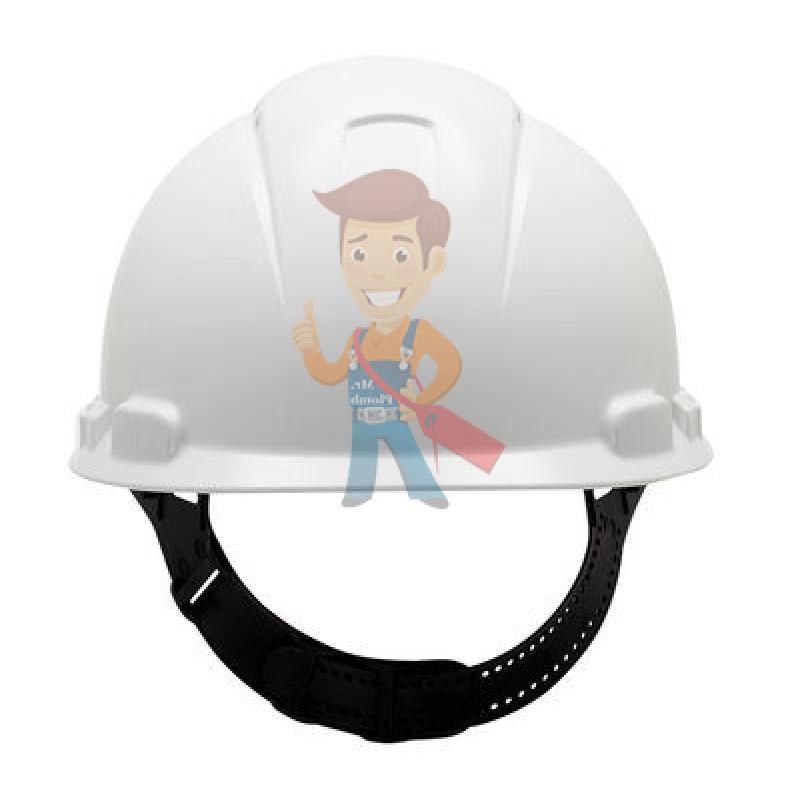 Каска защитная с вентиляцией, стандартное оголовье, белая - фото 3