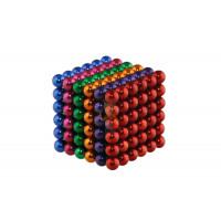 Forceberg Cube - куб из магнитных шариков 6 мм, синий, 216 элементов - Forceberg Cube - куб из магнитных шариков 5 мм, цветной, 216 элементов