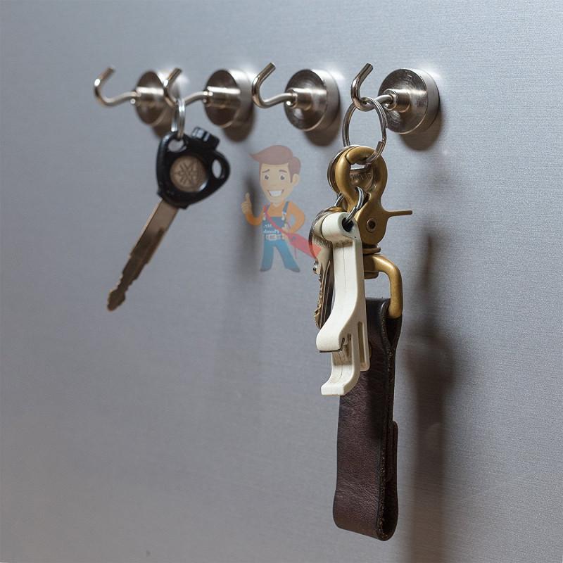 Крючки на неодимовом магните Е16 (М4), сила сц. 4 кг - фото 3