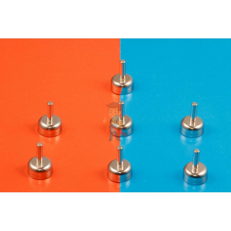 Магнитное крепление D10 со стержнем - подставка на магните для топпера, ценников, рамок, плакатов - фото 6