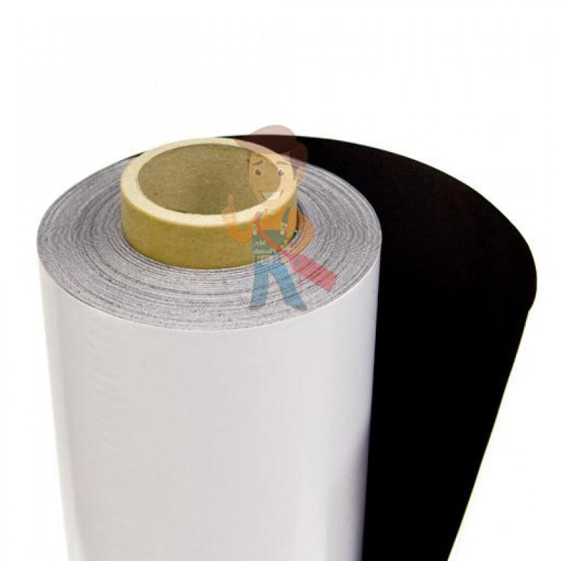 Магнитный винил с клеевым слоем, рулон 0.62х30 м, толщина 0.7 мм - фото 1