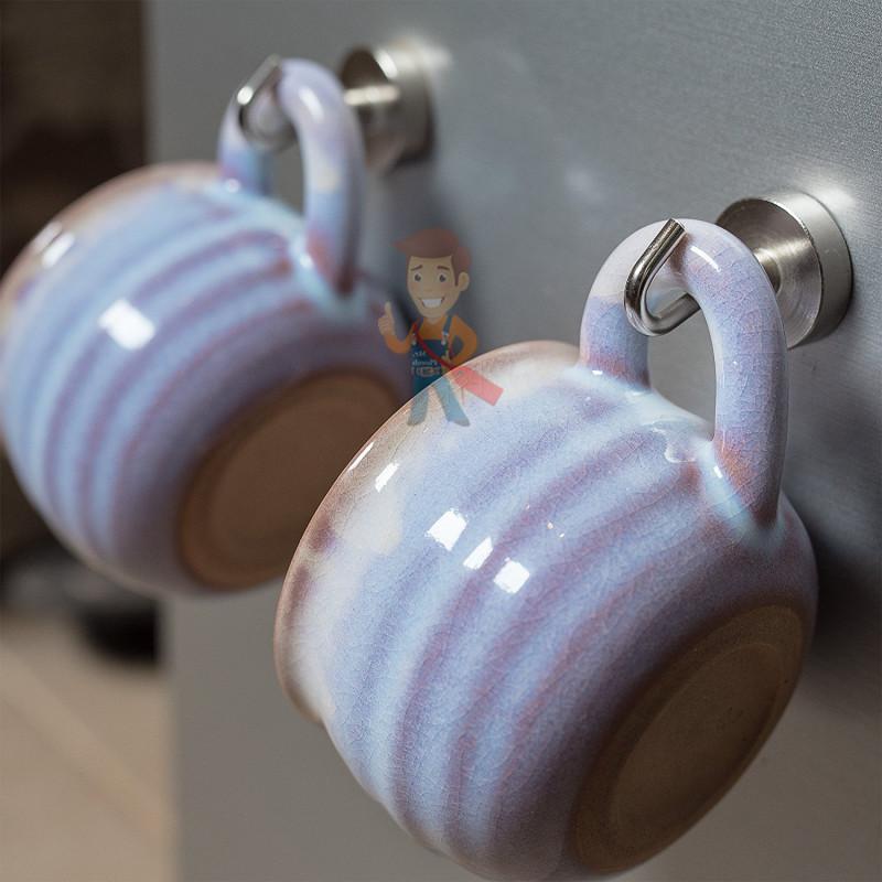 Крючки на неодимовом магните Е16 (М4), сила сц. 4 кг - фото 8