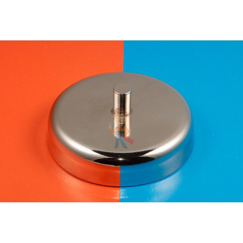 Магнитное крепление D60 со стержнем - подставка на магните для топпера, ценников, рамок, плакатов - фото 6
