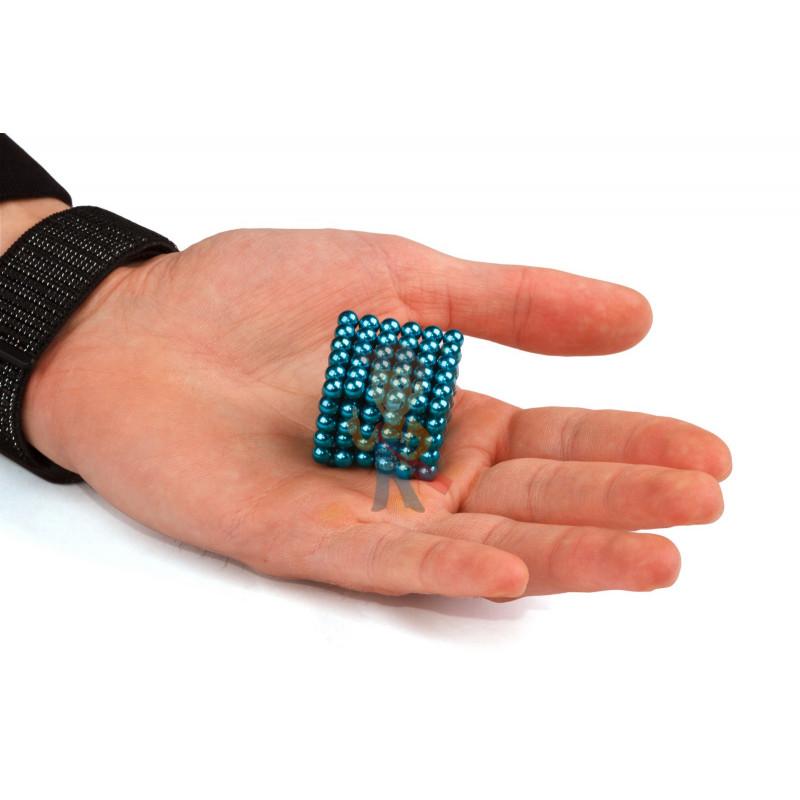 Forceberg Cube - куб из магнитных шариков 5 мм, бирюзовый, 216 элементов - фото 2