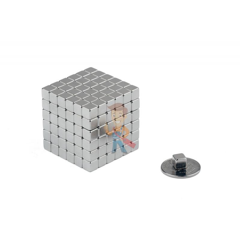 Forceberg TetraCube - куб из магнитных кубиков 6 мм, стальной, 216 элементов - фото 2