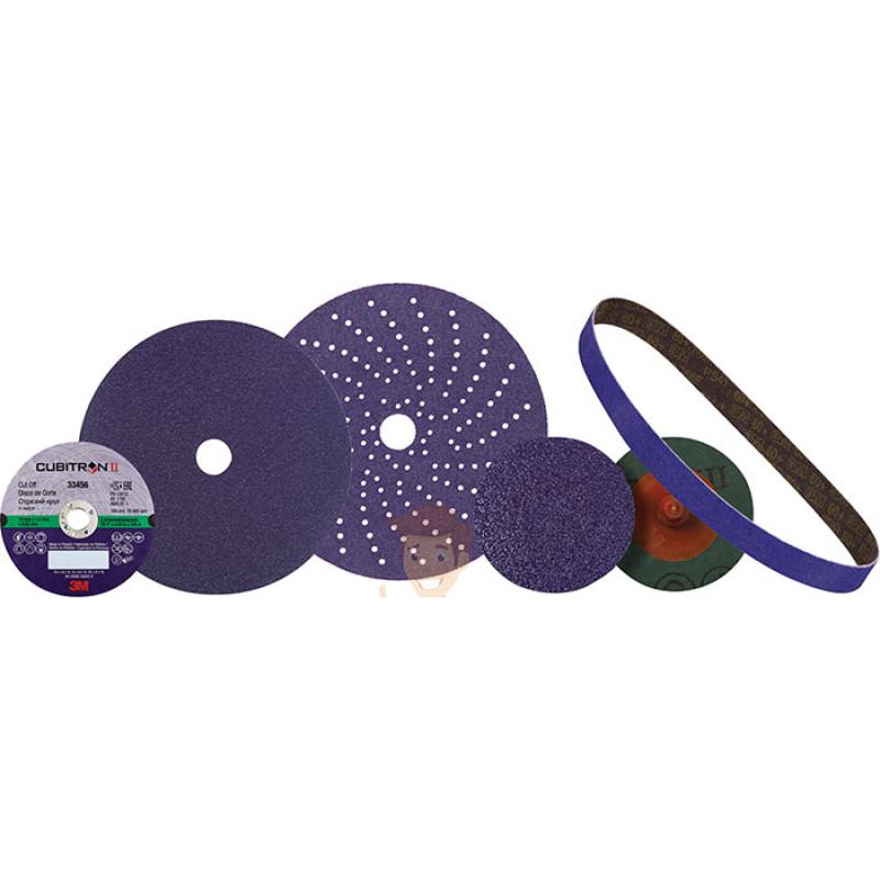 Круг абразивный c мультипылеотводом Purple+, 220+, Cubitron™ Hookit™ 737U, 150 мм - фото 5