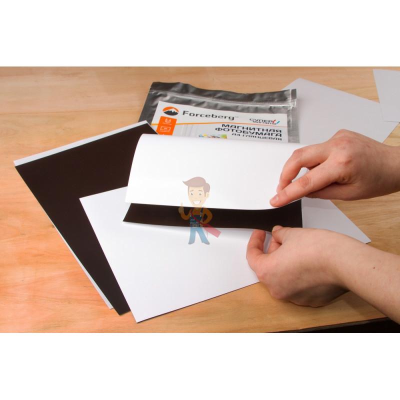 Магнитная бумага А4 глянцевая Forceberg 5 листов - фото 5