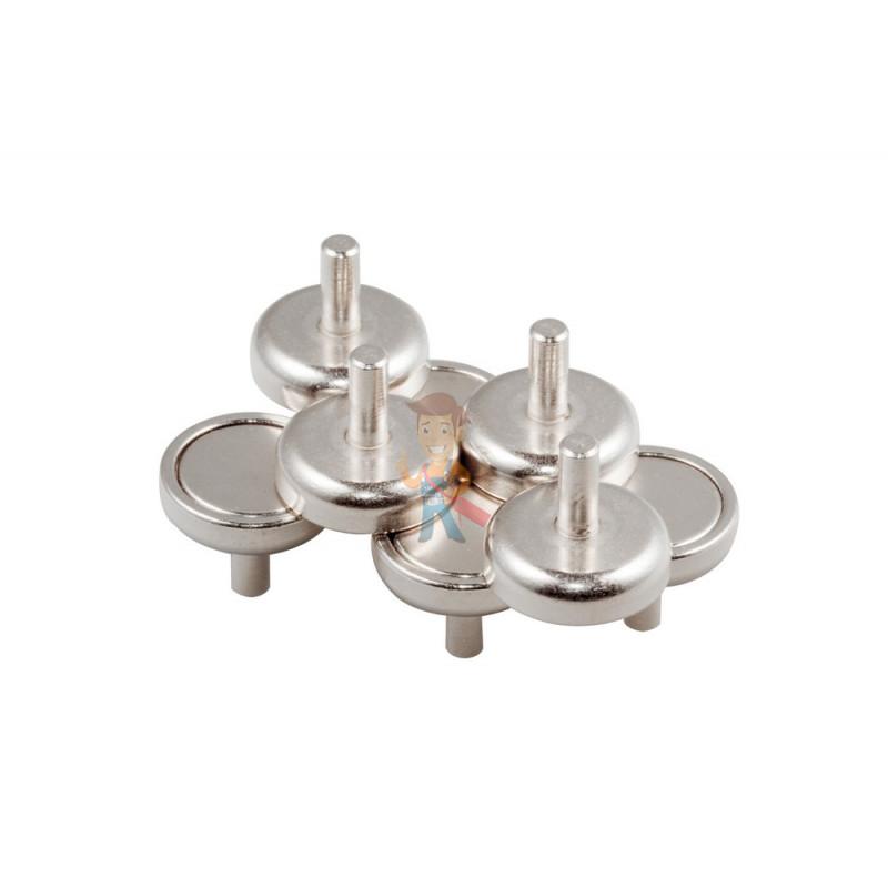 Магнитное крепление D20 со стержнем - подставка на магните для топпера, ценников, рамок, плакатов - фото 5