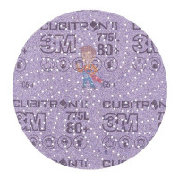 Круг лепестковый торцевой  шлифовальный конический 967A, 125 мм х 22 мм, 40+ - Шлифовальный круг Клин Сэндинг, 80+, 150 мм, Cubitron™ II, Hookit™ 775L, 5 шт./уп.