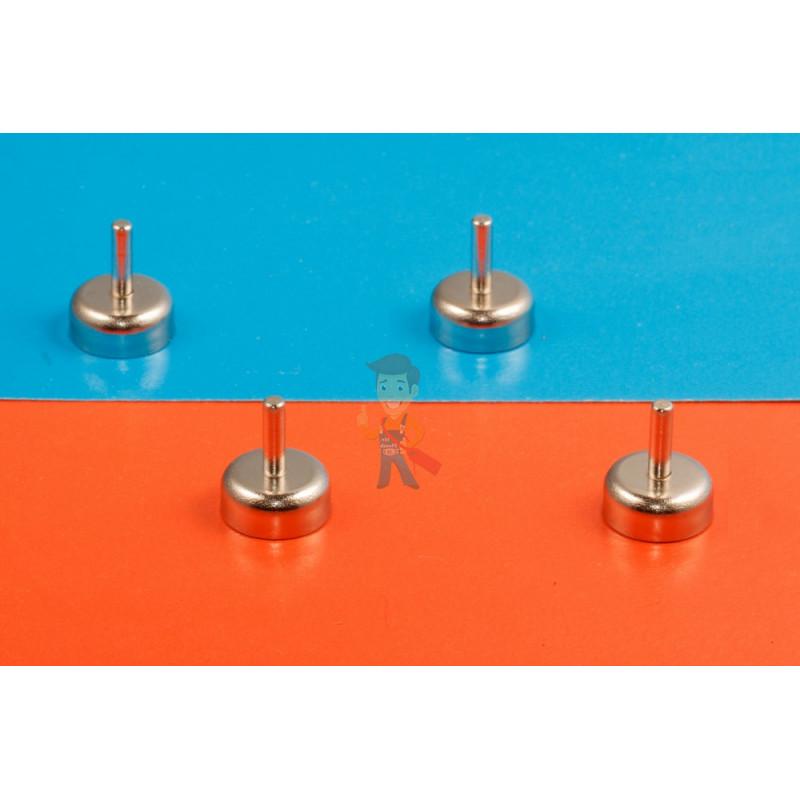 Магнитное крепление D16 со стержнем - подставка на магните для топпера, ценников, рамок, плакатов - фото 6