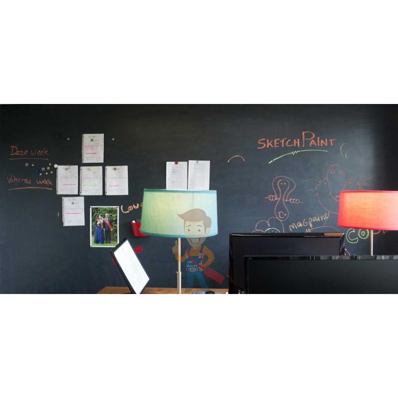 Грифельная краска MagPaint 0,5 литра, на 2,5 м² - фото 3