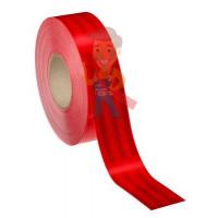 Лента светоотражающая 3M 983-72, алмазного типа, красная, 53,5 мм х 5 м - Пленка световозвращающая микропризматическая красная, размер рулона 55 мм х 50 м