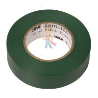 Изолента резиново-мастичная Scotch® 2228, 50 мм х 3 м - ПВХ изолента универсальная, зеленая, 19 мм x 20 м
