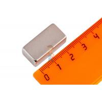 Магнитное крепление с отверстием В75 - Неодимовый магнит прямоугольник 25,4х12,5х9,3 мм, N42H