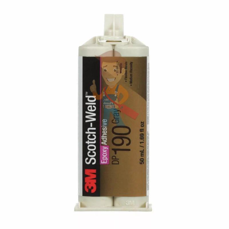 Клей Эпоксидный Двухкомпонентный, серый, 48,5 мл 3M™ Scotch-Weld™ DP190
