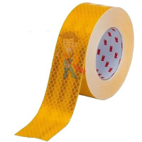 Браслет Scotchlite световозвращающий с логотипом 3M - Пленка световозвращающая микропризматическая жёлтая, размер рулона 55 мм х 50 м