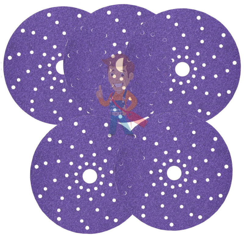 Круг абразивный c мультипылеотводом Purple+, 80+, Cubitron Hookit 737U, 150 мм - фото 8