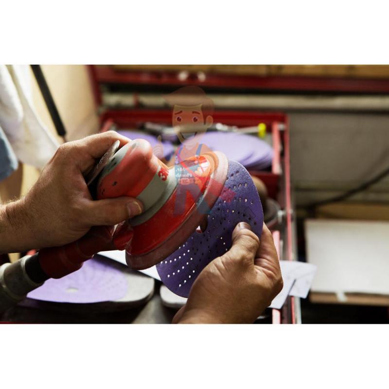 Круг абразивный c мультипылеотводом Purple+, 80+, Cubitron Hookit 737U, 150 мм - фото 4