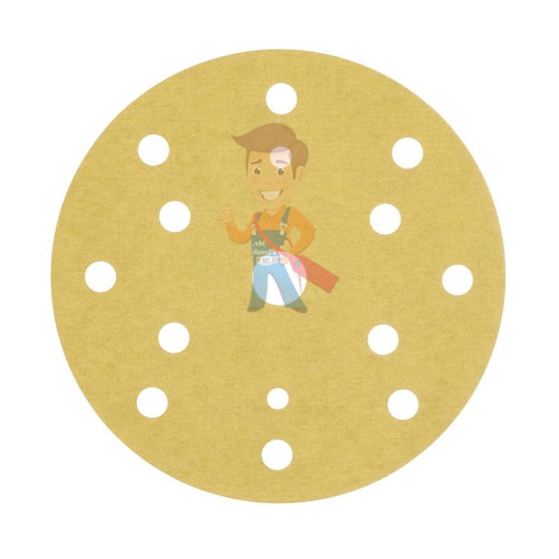 Круг абразивный, золотой, 15 отверстий, Р240, 150 мм,3M Hookit 255P+ 10 шт/уп - фото 2