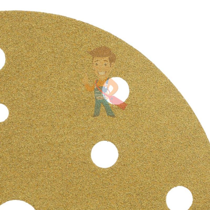 Круг абразивный, золотой, 15 отверстий, Р240, 150 мм,3M Hookit 255P+ 10 шт/уп - фото 3