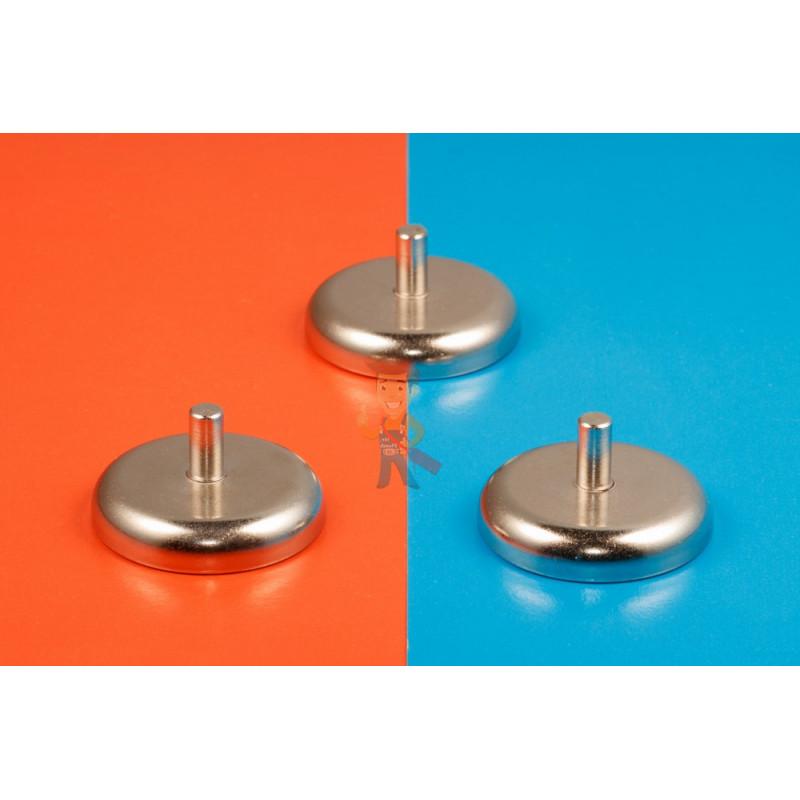 Магнитное крепление D48 со стержнем - подставка на магните для топпера, ценников, рамок, плакатов - фото 6