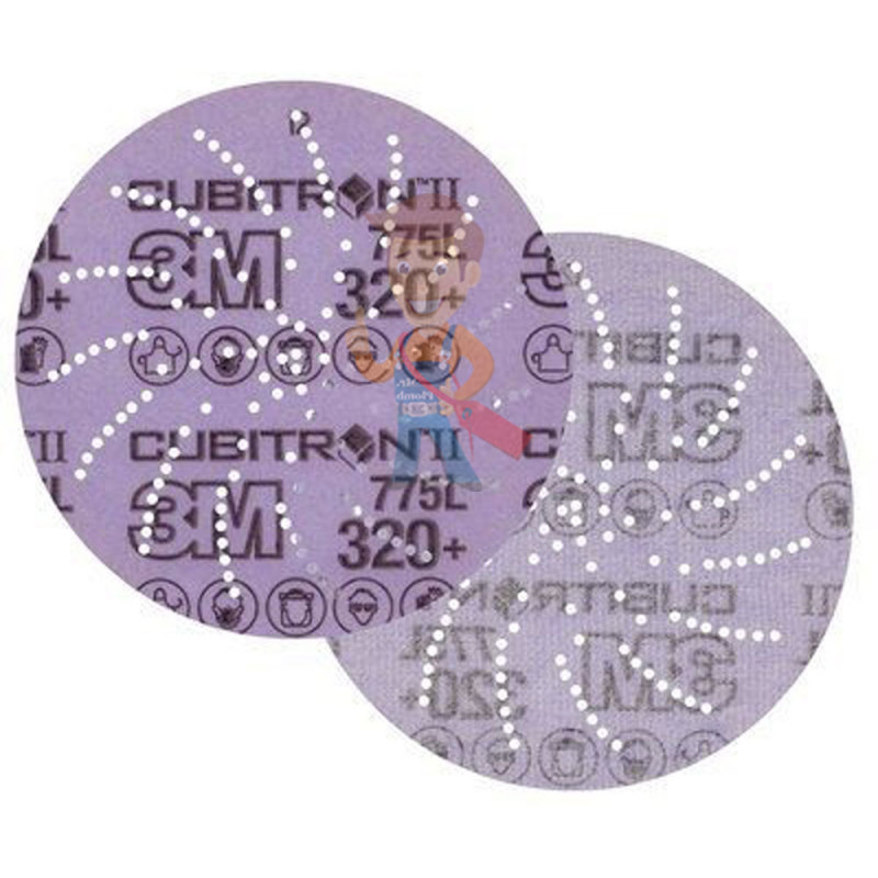 Круг Шлифовальный, 320+, 125 мм, Клин Сэндинг, 3M Cubitron II Hookit 775L 10 шт./уп. - фото 1