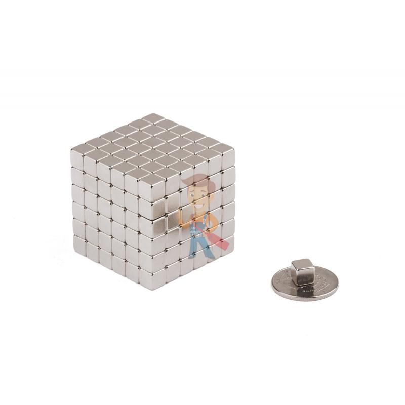 Forceberg TetraCube - куб из магнитных кубиков 6 мм, жемчужный, 216 элементов - фото 2