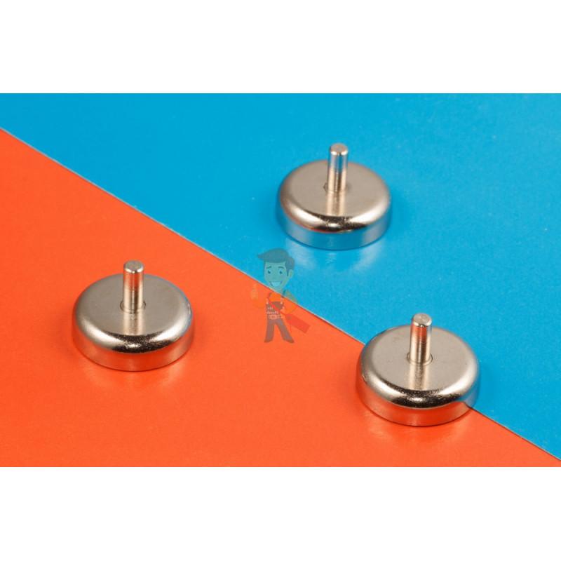 Магнитное крепление D36 со стержнем - подставка на магните для топпера, ценников, рамок, плакатов - фото 6