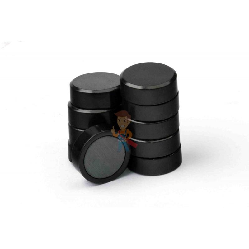 Магнит для магнитной доски FORCEBERG 20 мм, черный, 10шт. - фото 2