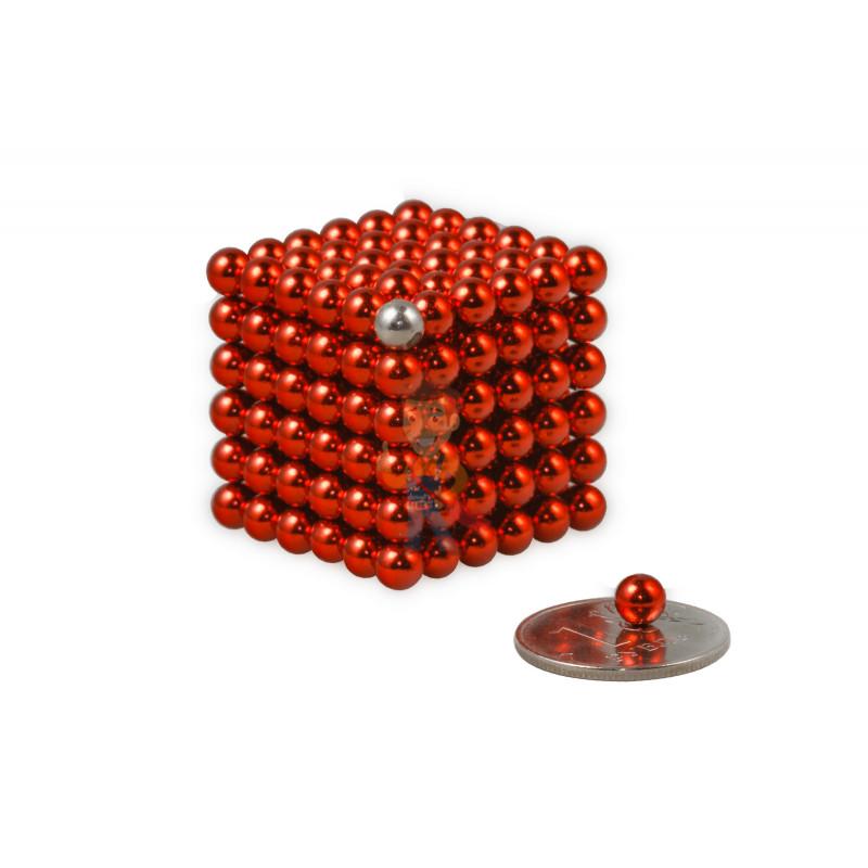 Forceberg Cube - куб из магнитных шариков 5 мм, красный, 216 элементов - фото 1