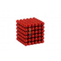 Forceberg Cube - куб из магнитных шариков 6 мм, белый, 216 элементов - Forceberg Cube - куб из магнитных шариков 5 мм, красный, 216 элементов