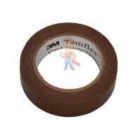 Изолента самослипающаяся силиконовая Scotch® 70, рулон 25 мм х 9 м - ПВХ изолента универсальная, коричневая, 15 мм x 10 м