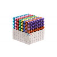 Forceberg Cube - куб из магнитных шариков 5 мм, бирюзовый, 216 элементов - Forceberg Cube - куб из магнитных шариков и кубиков 5 мм, цветной/стальной, 512 элементов