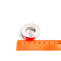 Высечка самоклеящаяся D10 мм - Неодимовый магнит кольцо 40х20х10 мм