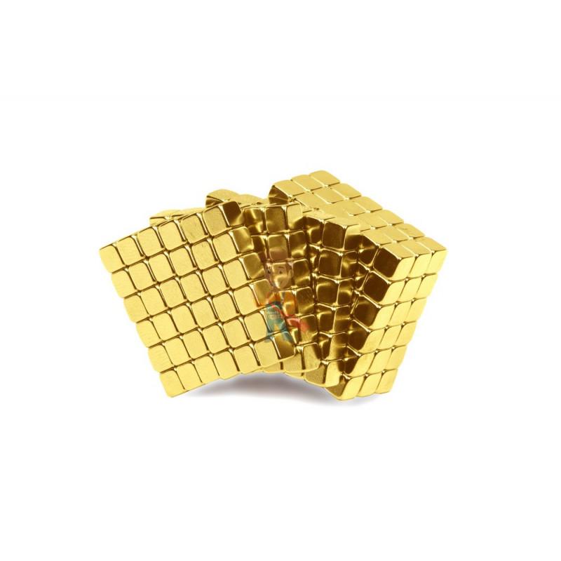 Forceberg TetraCube - куб из магнитных кубиков 5 мм, золотой, 216 элементов - фото 1