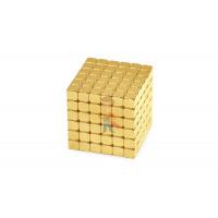 Forceberg TetraCube - куб из магнитных кубиков 6 мм, черный, 216 элементов - Forceberg TetraCube - куб из магнитных кубиков 5 мм, золотой, 216 элементов