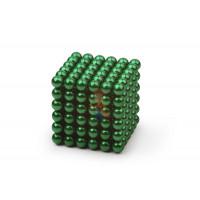 Forceberg TetraCube - куб из магнитных кубиков 6 мм, черный, 216 элементов - Forceberg Cube - куб из магнитных шариков 5 мм, зеленый, 216 элементов