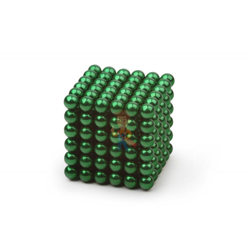 Forceberg Cube - куб из магнитных шариков 5 мм, зеленый, 216 элементов