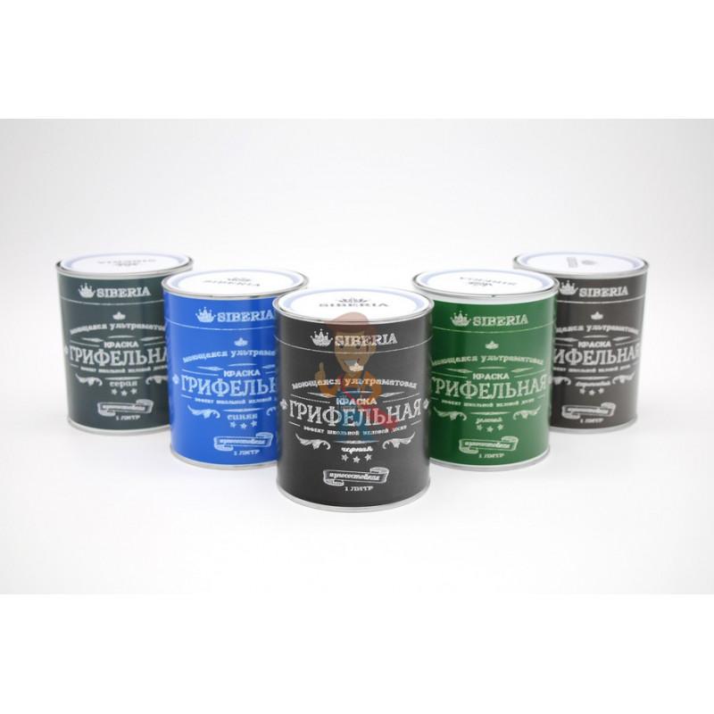 Грифельная краска Siberia 1 литр, серый, на 5 м² - фото 2